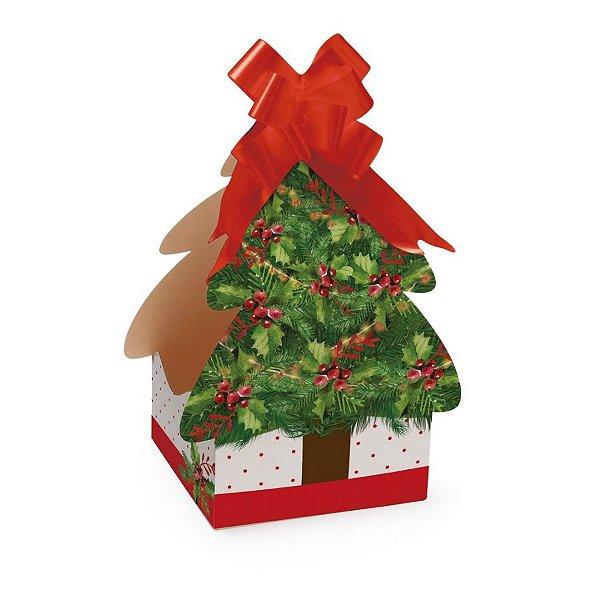 Caixa Panetone Árvore Harmonia para Panetone 500g - 10 Unidades - Cromus Natal - Rizzo Confeitaria