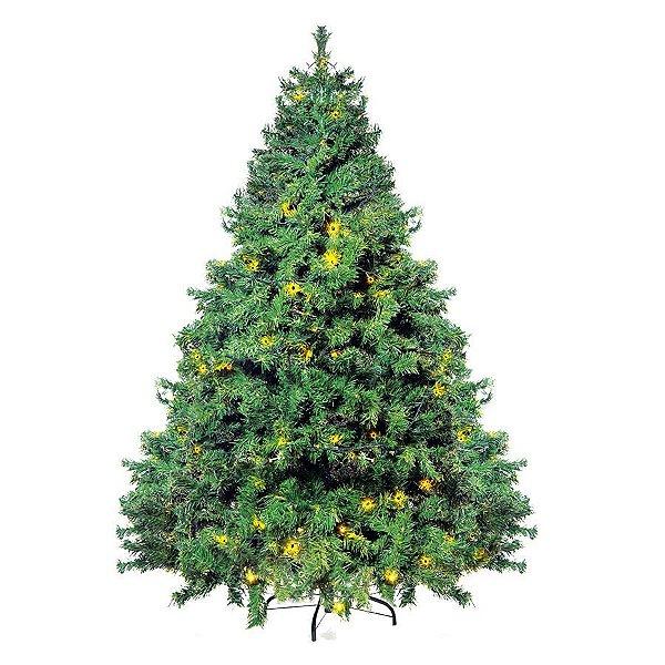 Árvore Cordoba com leds - 210cm - 1 unidade -Cromus Natal -Rizzo Confeitaria