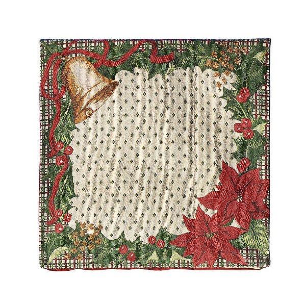 Capa para Almofada Sino 45cm - 01 unidade - Cromus Natal - Rizzo Confeitaria