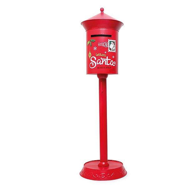 Caixa Correio Decorativa Vermelho 123cm - 01 unidade - Wonderland - Cromus Natal - Rizzo Confeitaria