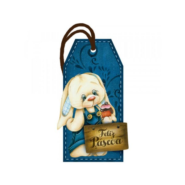 """Decor Home Tag """"Feliz Páscoa"""" - DHT2-048 - LitoArte - Rizzo"""
