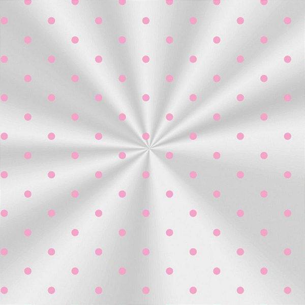 Saco Transparente Decorado Poá Rosa - 10x14cm - 100 unidades - Cromus - Rizzo
