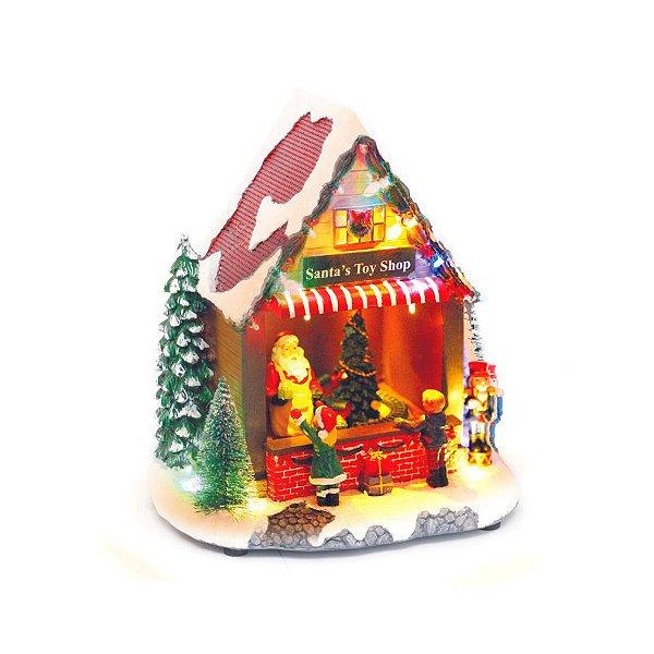 Cenário Natalino - Loja Brinquedos Som Luz e Movimento - 01 unidade - Cromus Natal - Rizzo Confeitaria