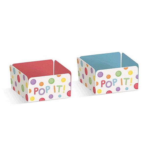 Forminha para Doces Festa Fidget Toys - Azul e Coral - 24 unidades - Cromus - Rizzo