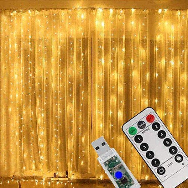 Cortina LED 3x3m - 300 LEDs - 1 Unidade - Art Lille - Rizzo
