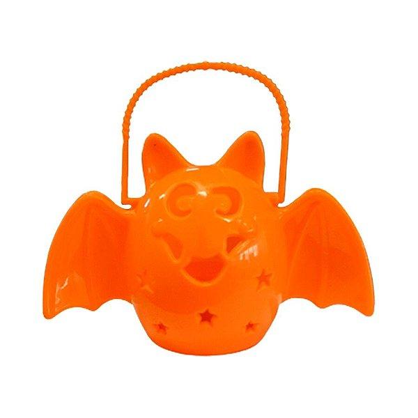 Lamparina Halloween - Morcego com led - Laranja - 01 unidade - Rizzo
