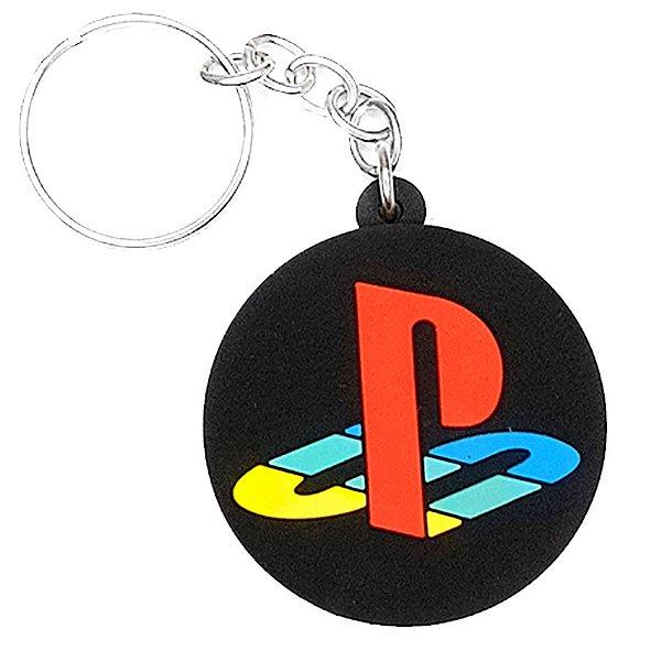 Chaveiro Playstation Temático Emborrachado - 01 unidade - Rizzo