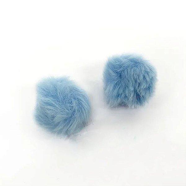 Pompom Pelo Decorativo Azul Claro - Nº7 - 2 Un - Artegift - Rizzo