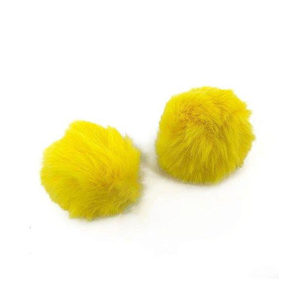 Pompom Pelo Decorativo Amarelo - Nº7 - 2 Un - Artegift - Rizzo