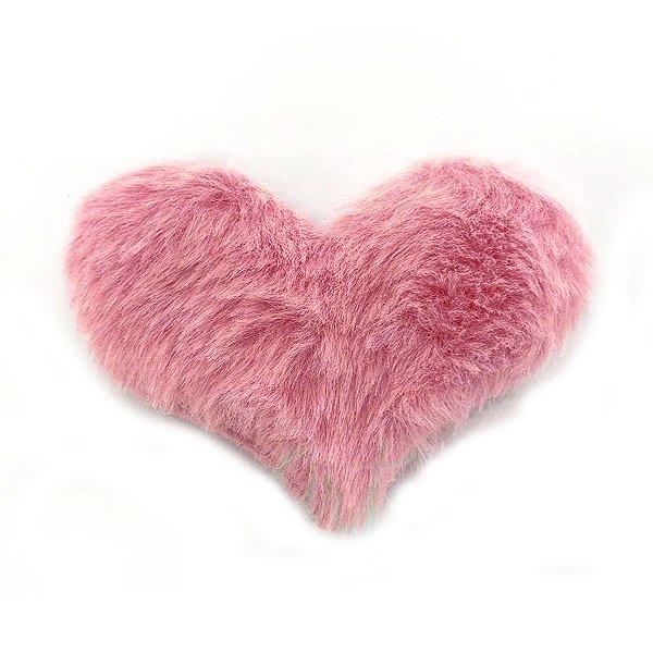 Aplique Coração Pelo Rosa Decorativo BIG - 2 Un - Artegift - Rizzo