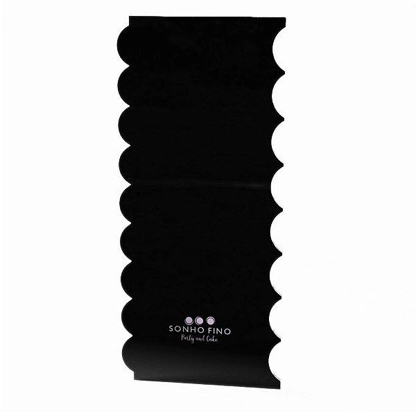 Espátula para Bolo Tradicional N°12 - Preto - 1 unidade- Sonho Fino - Rizzo Confeitaria