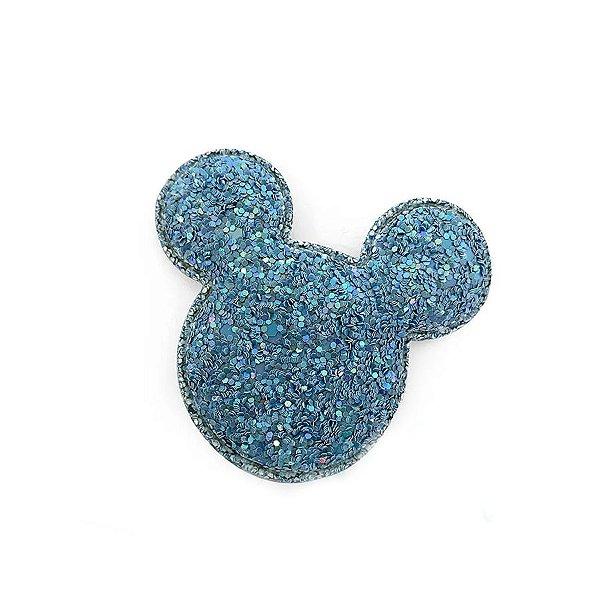 Aplique Urso Glitter Azul - 6,5cm - 2 Un - Artegift - Rizzo