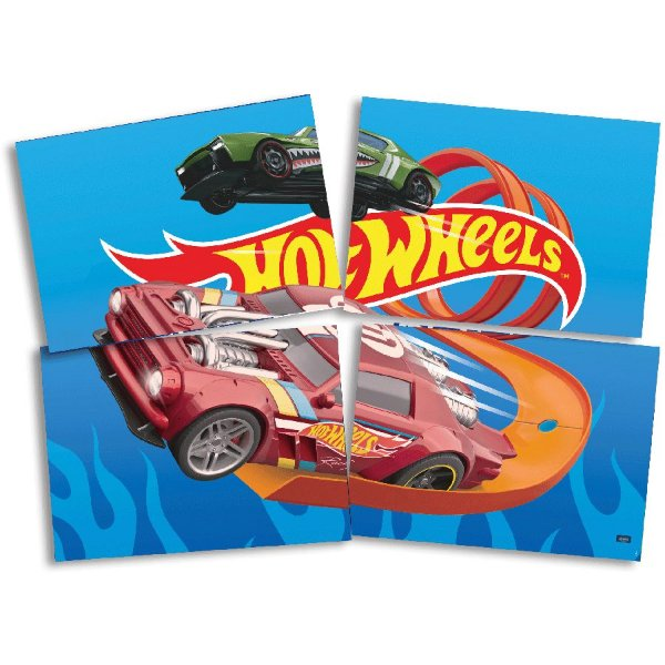 Painel Decorativo Festa Hot Wheels - 1 Unidade - Festcolor - Rizzo