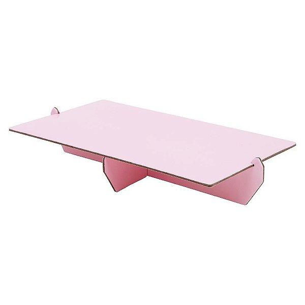 Bandeja Desmontável Retangular - Rosa Boneca Magia - 01 unidade - Mesa Festa - Rizzo Confeitaria
