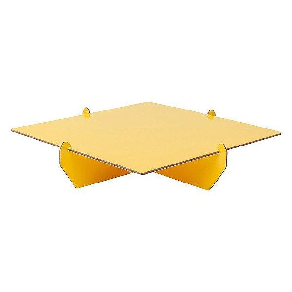 Bandeja Desmontável Quadrada - Amarelo Siciliano - 01 unidade - Mesa Festa - Rizzo Confeitaria