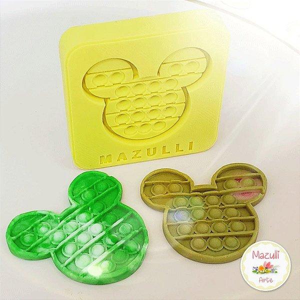 Molde de Silicone 2317 Festa Pop It Fidget Toy Mickey - 01 Unidade - Mazulli - Rizzo