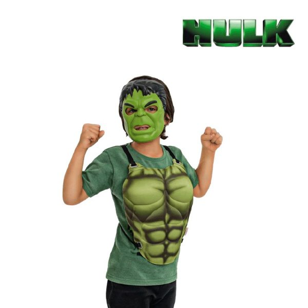 Fantasia Kit Vingadores Peitoral e Mascara Hulk 02pçs 01 Unidade Regina Rizzo