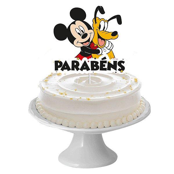 Decoração de Bolo Festa Mickey Mouse 1 Unidade Regina Rizzo