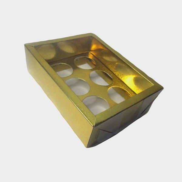 Caixa Base Brigadeiro - Dourado - N1 (9cm x12cm x4cm) - 5 unidades - Assk - Rizzo