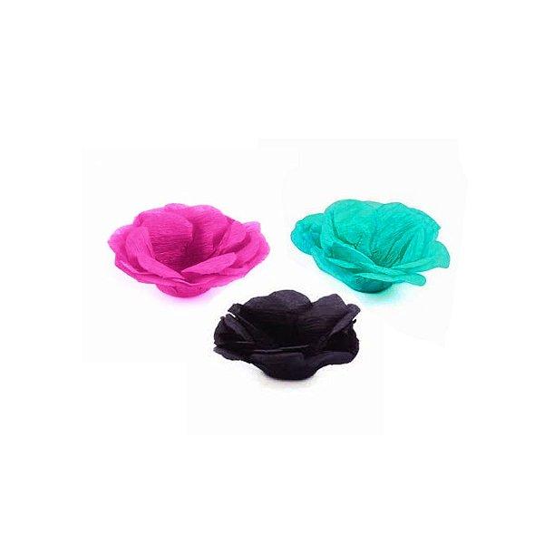 Forminha Flor - Pap Mono - Pink Tiffany Preto - 50 UN - MaxiFormas - Rizzo