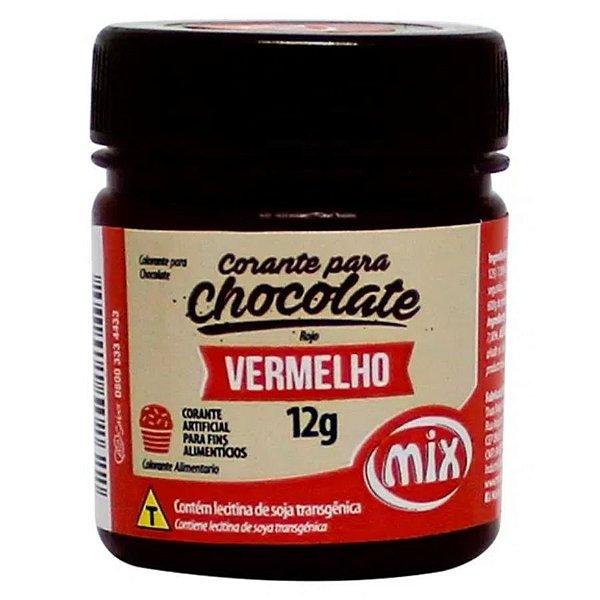 Corante em Pasta para Chocolate Vermelho 12g Mix