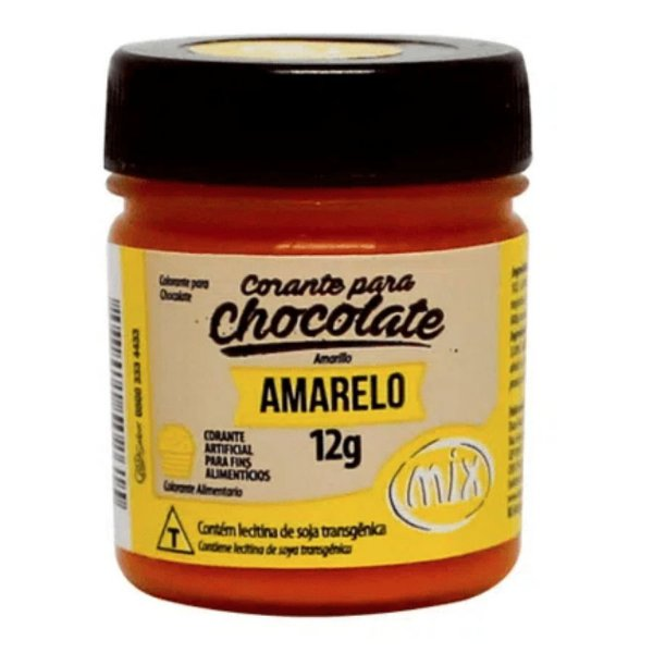 Corante em Pasta para Chocolate Amarelo 12g Mix