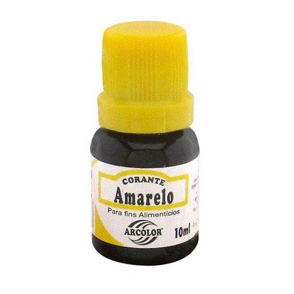 Corante Liquido amarelo 10ml Arcolor Rizzo Confeitaria