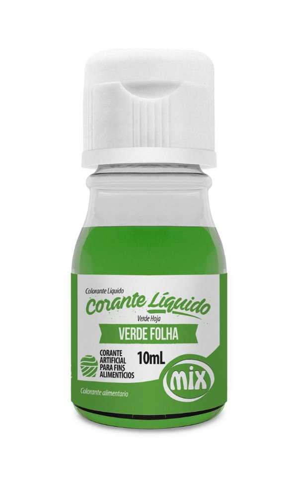 Corante Liquido Verde Folha 10ml Mix