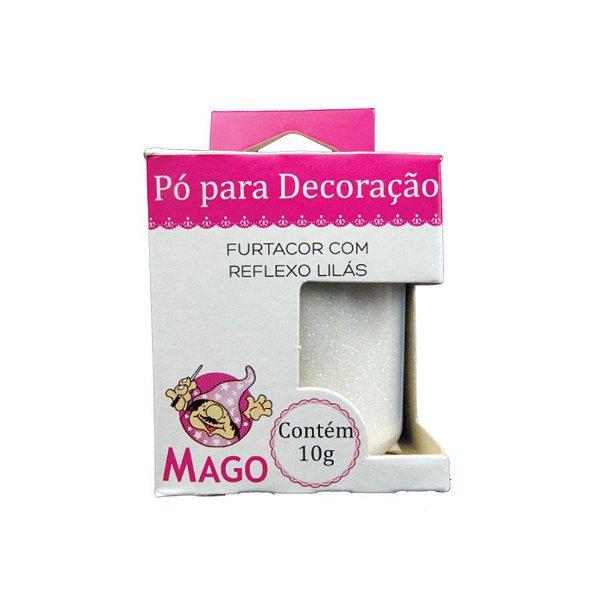 Pó para decoração furtacor com reflexo lilas 10g Mago Rizzo Confeitaria