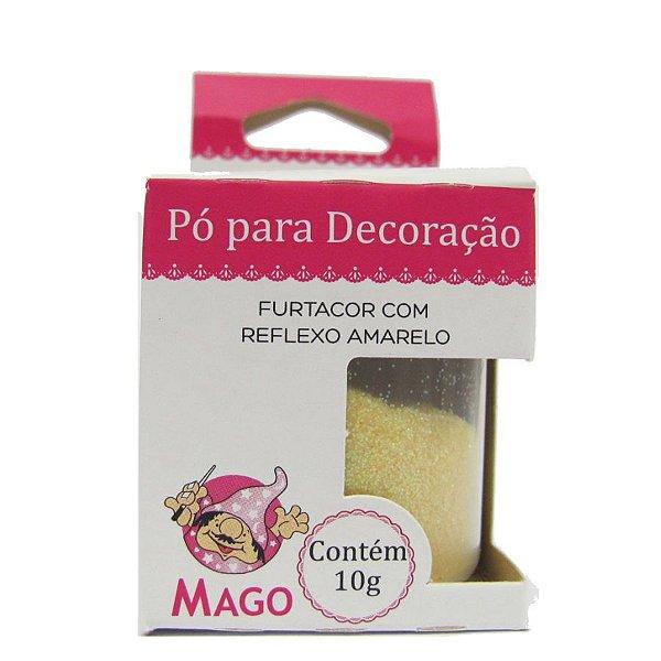 Pó para decoração furtacor com reflexo amarelo 10g Mago Rizzo Confeitaria