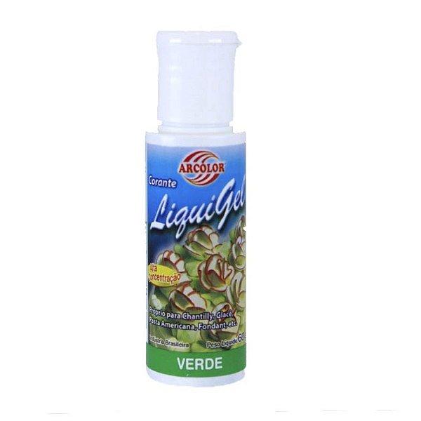Corante Liquigel Verde 60g Arcolor Rizzo Confeitaria