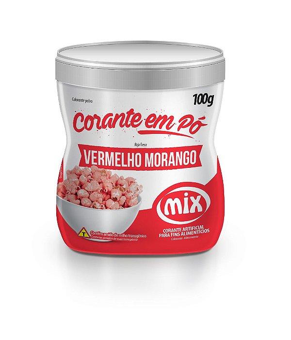 Corante em pó vermelho morango 100g Mix Rizzo Confeitaria