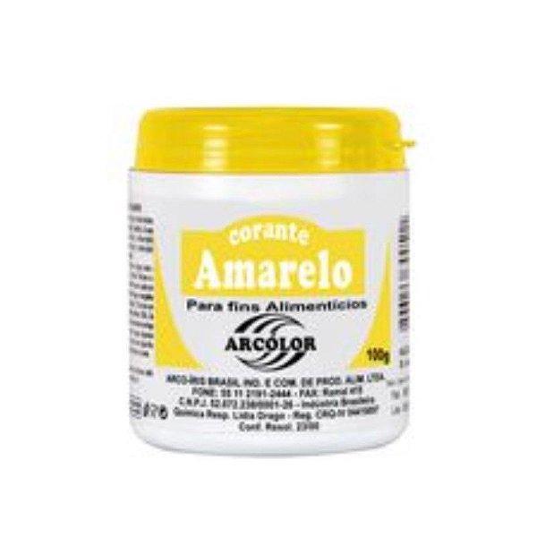 Corante em pó Amarelo Limão 100g Arcolor Rizzo Confeitaria