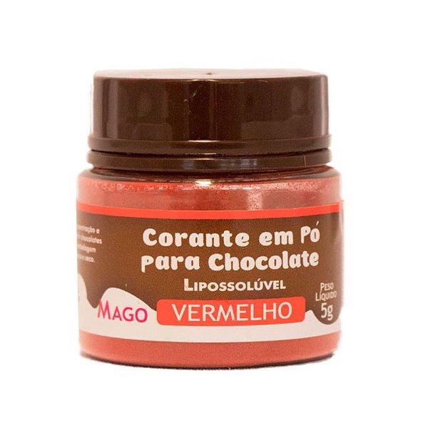Corante em pó para chocolate lipossoluvel vermelho 5g Mago Rizzo Confeitaria