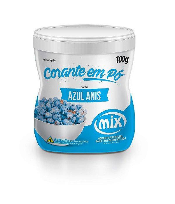 Corante em pó azul anis 100g Mix Rizzo Confeitaria