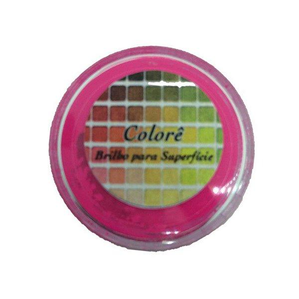 Pó para decoração, Brilho para Superficie Colorê Rosa Escuro Flúor 2g LullyCandy Rizzo Confeitaria