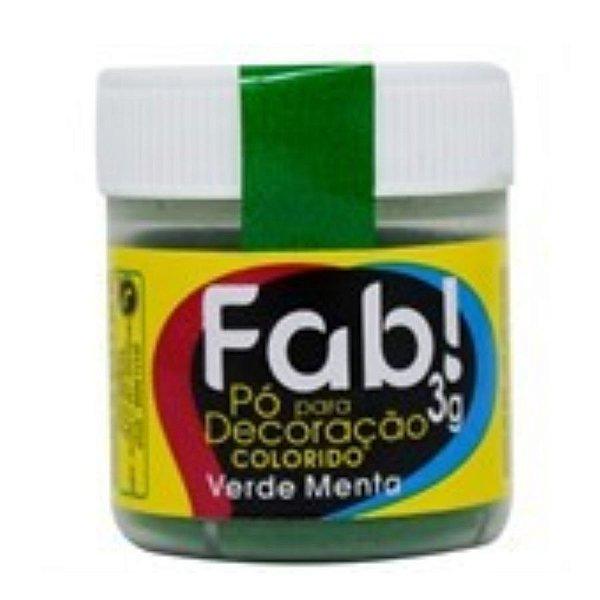 Pó para decoração verde menta 3g Fab Rizzo Confeitaria