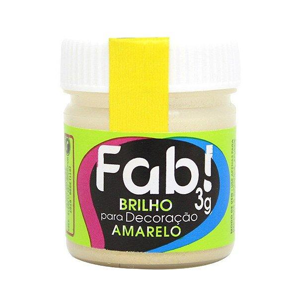Brilho para Decoração Amarelo 3g Fab Rizzo Confeitaria