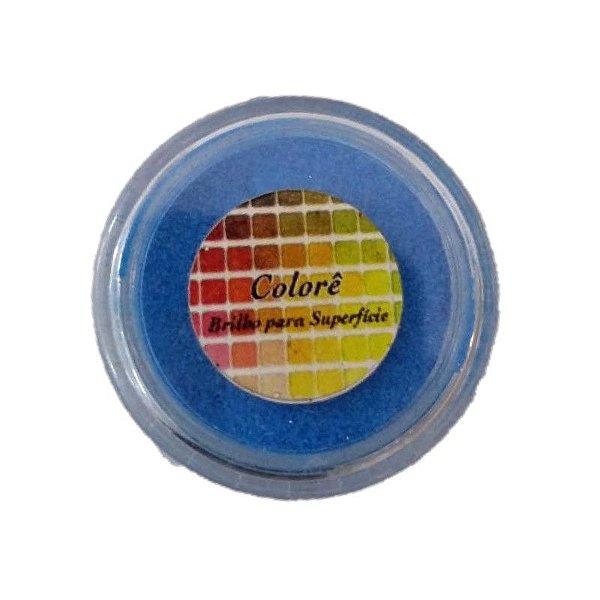Pó para Decoração, Brilho para Superficie Colorê Azul Citrico 1,5g LullyCandy Rizzo Confeitaria