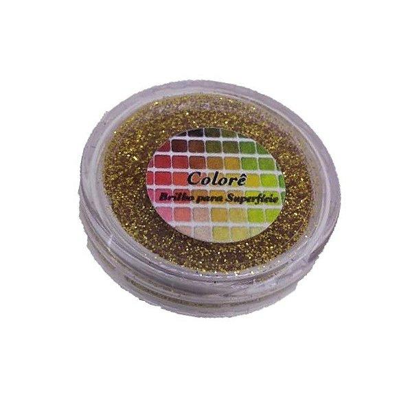 Brilho para superficie, Gliter Dourado 35PP 1,5g LullyCandy Rizzo Confeitaria