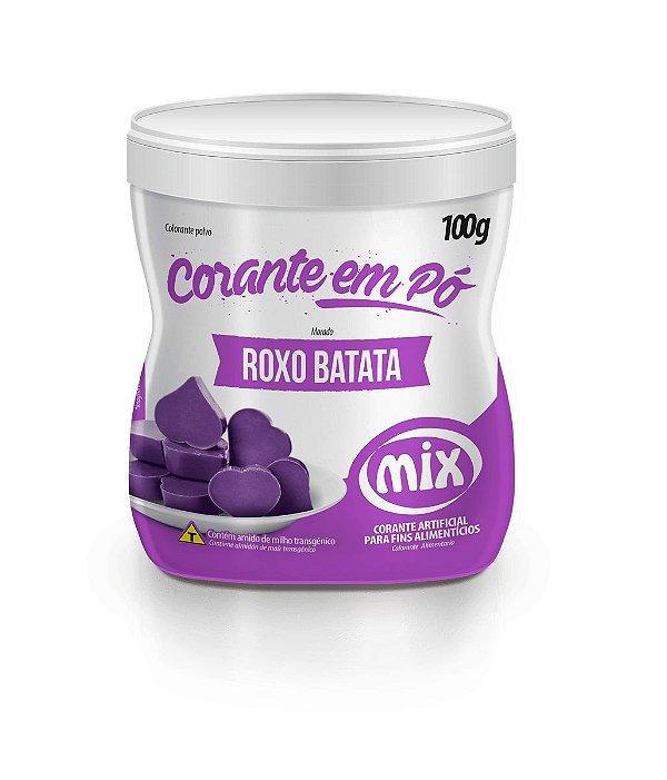 Corante em pó roxo batata 100g Mix Rizzo Confeitaria