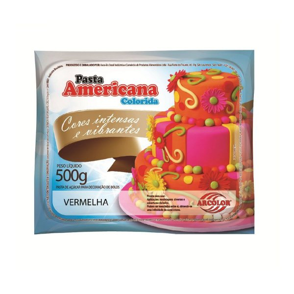 Pasta Americana Vermelha 500g Arcolor