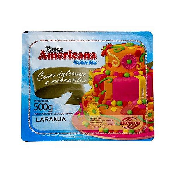 Pasta americana laranja 500g Arcolor Rizzo Confeitaria