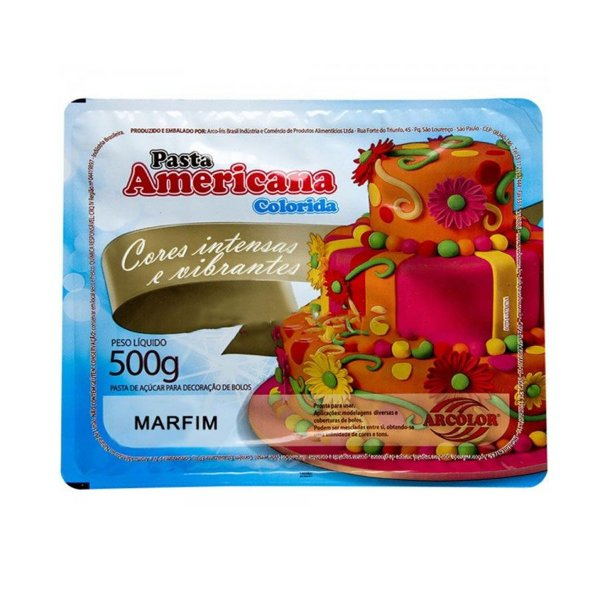 Pasta Americana Marfim 500g Arcolor