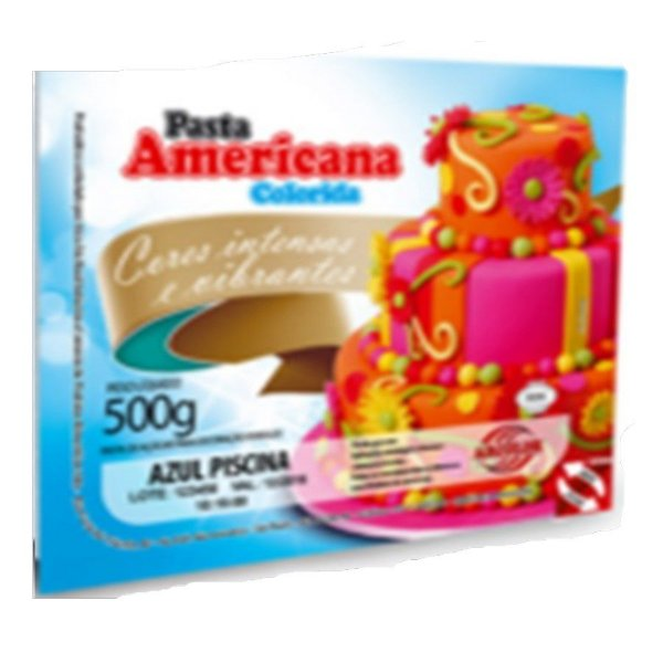 Pasta Americana Azul Piscina 500g Arcolor