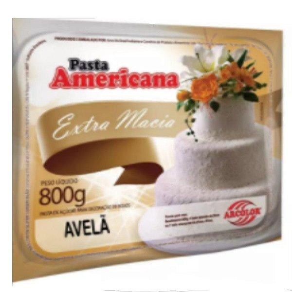 Pasta americana avela 800g Arcolor Rizzo Confeitaria