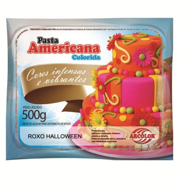 Pasta Americana Roxo Halloween 500g Arcolor