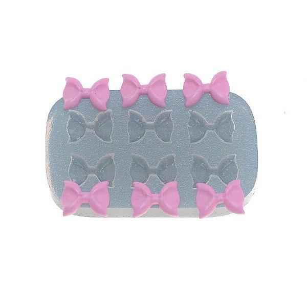 Molde de silicone Sexteto de lacinhos Ref. 358 Flexarte Rizzo Confeitaria