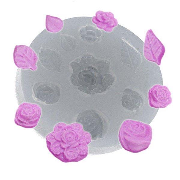Molde de silicone Buquet de Rosinhas Ref. 115 Flexarte Rizzo Confeitaria