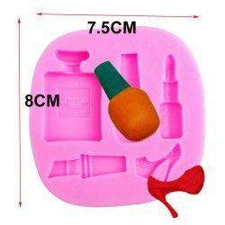 Molde de silicone Maquiagem e Perfume S154 Molds Planet Rizzo Confeitaria